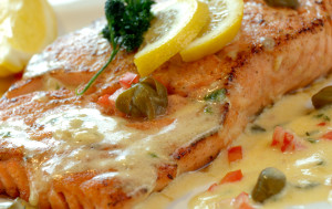 Pan Fried Salmon With Lemon Butter Sauce